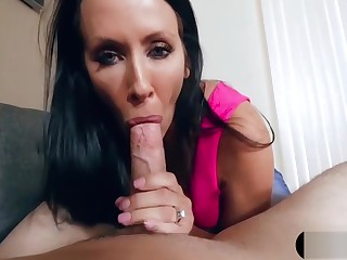 Recording MILF stepmom after a long time she blows my big horseshit