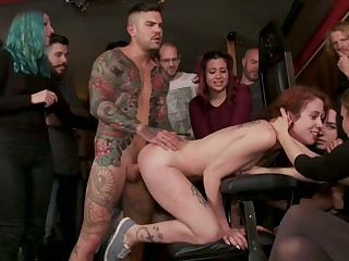 Complete whore with tatts Lilyan Red is fucked and humbled respecting public