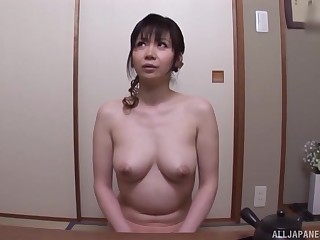 After dildo pleasing Japanese chick wants to tone friend's shaft