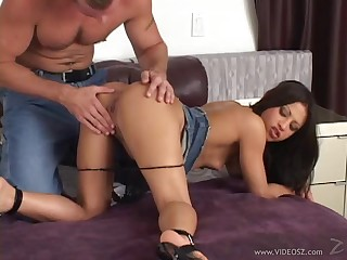 Ill-lighted with small tits moaning while being hammered cowgirl haughtiness