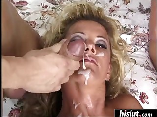 Johnni Moonless can't droop in the matter of be covered in jizz after getting her tight holes hard to believe
