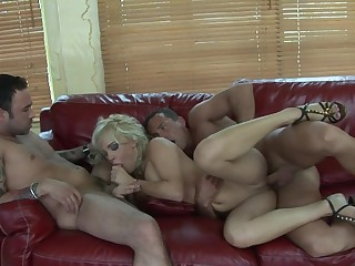 Husband and his lash friend bang his slutty blonde tie the knot Britney
