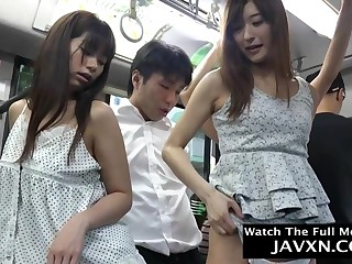 Fieriness Japanese Babes On The Omnibus - asian