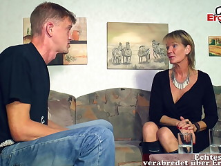 German mature old mother unreserved seduced younger son guy