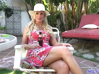 Hot and dissolute take charge blonde MILF Charlie Daniels cannot get enough from doggy