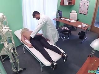 Doctor loads blonde woman's cunt in the juicy sperm