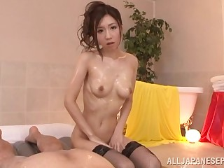 Wild fucking handy residence with cock vitalized Japanese cutie Arisa Aizawa